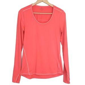 Athleta Neon Orange Small Long Sleeve Top